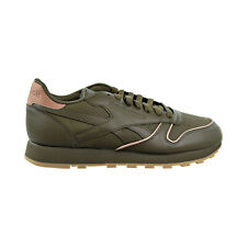 Reebok Classic Leather Men's Shoes Army Green-Rose Gold-Gum CN2845