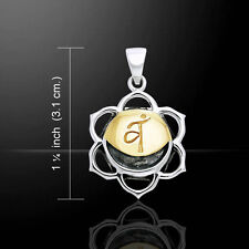 Syadhisthana Sacral Silver and Gold Chakra Pendant by Peter Stone