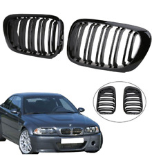 BMW E46 2 door coupe cabrio 98-03 gloss black kidney grilles grills double spoke