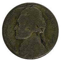 1942 S Jefferson Nickel Lamination Error