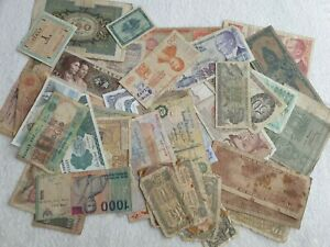 Lot Collection Of Old Foreign World Banknotes