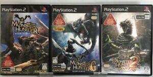PS2 Monster Hunter & 2 DOS & G game set Japan