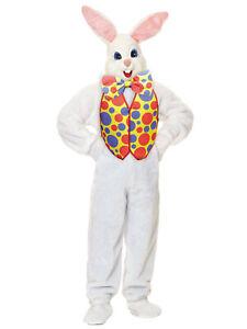 Easter Bunny Super Deluxe Plush Mascot Rabbit Suit Adult Mens Costume STD