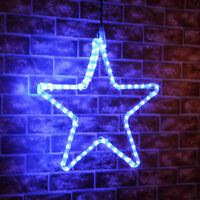 CONNECTABLE OUTDOOR GARDEN WALL CHRISTMAS DECORATION LED LIGHT STAR SILHOUETTE