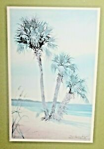 "VTG Sandra Williams ""Sable Palmsl"" 1990  Print Signed Limited Edition 186/500"