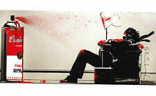 Mr Brainwash Max Tomato Spray art show postcard print gray