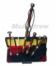 SCOTTISH GHB TUNABLE  NATURAL BAGPIPE BLACK WATCH TARTAN & CORD