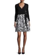 NWT$548 Diane von Furstenberg Jewel Leaf-Print Wrap Dress Size 8