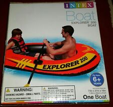 Intex Explorer 200 2 Person Inflatable Boat New Boat Only NO OARS