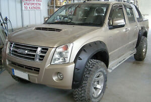 Wide fender flares wheel arches for  ISUZU D-MAX Chevrolet Holden Rodeo 4-door