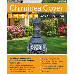 UK Heavy Duty Garden Large BBQ Chimnea Chiminea Waterproof Rain Protector Cover