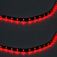 2 X 15 LED 30cm SMD Car Vehicle Flexible Waterproof Strip Light Red 12V Sales