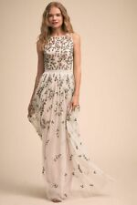 ANTHROPOLOGIE NWT BHLDN ADRIANNA PAPPELL Samba BEADED MAXI Dress PINK Sz 12, 14