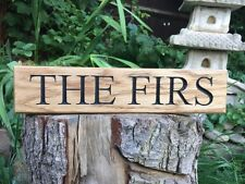 Personalizzata, Oak House segno, intagliate, Custom INCISI OUTDOOR IN LEGNO NOME TARGA