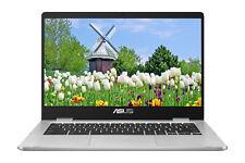 """NEW Asus Chromebook 14"""" HD Intel N3350 4GB DDR4 64GB eMMC Webcam BT Nano Edge"""