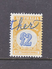 Australian Tax Instalment: 2 Pound Yellow/Green And Blue Used.