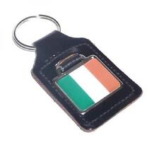 Irish Flag Bonded Leather KEY FOB CHAIN BAG CHARM Ireland Club BIRTHDAY PRESENT