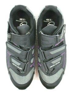 Pearl Izumi All Road III Black/Purple Cycling Shoes w/Cleats Womens EU42  US 10