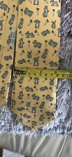 Hermes tie in yellow with bunny's 100% authentic!
