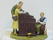 """NORMAN ROCKWELL  """" THE MARRIAGE LICENSE """" FIGURINE"""