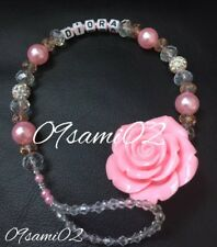 ❤Bling Rose Shamballa /& Crystal Romany Dummy Clip Personalised pink !!❤❤hook