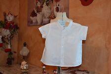 chemise bonpoint 12 mois blanche impeccable manches courtes ete