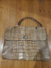 Claudia firenze handbags leather Beige Croc