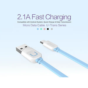 Micro USB Charger Data Cable for Samsung, Sony, LG, Android USAMS Fast Charge