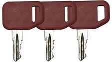 3 pcs. lot John Deere, Multiquip, Indak Heavy Equipment Ignition Keys 51481