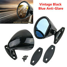1 Pair California Classic Vintage Black Car Door Wing Side Mirror Hot Rod Muscle