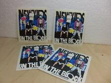New Kids on the Block 4 x unused Sticker 1990