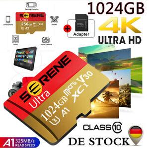 Micro SD Karte Card 128GB-1TB mit Adapter 325MB/s Class10 Memory Speicherkarte