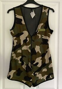 Ann Summers One-piece Play Suit Army Cadet 'Go Commando' Size 18 NEW!