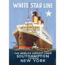 WHITE STAR LINE Metal wall sign A5 21cm x 15cm liner ship New