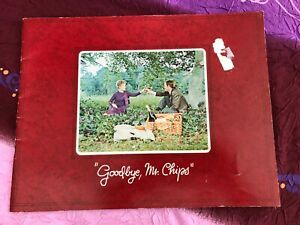 RARE Goodbye Mr Chips Original Vintage 1969 Press Book Peter O'Toole Redgrave