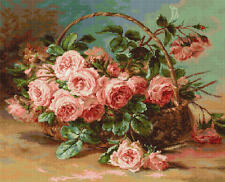 Counted Cross Stitch Kit Luca-S Basket of Roses #B547