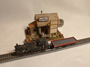 Z scale scratch built KINGS TRACKSIDE PRODUCE DIORAMA - building, structure