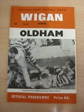 13/09/1969 Rugby League Programme: Wigan v Oldham  . Thanks for taking the time