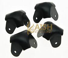 4 Pcs Black Metal 3 Leg Speaker Cabinet Corner Guitar Amp Protectors