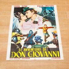 LE AVVENTURE DI DON GIOVANNI manifesto poster Flynn Adventures of Don Juan C24