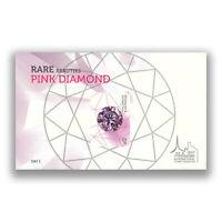Australia 2017 Rare Beauties Pink Diamond Mini Sheet Melbourne Stamp Show Day 1