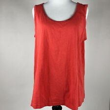 994b6ccc7fea4 G by Giuliana Womens Salmon High and Low Sleeveless Blouse Top sz. Large