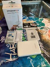 POLAROID ZIP (POLMP01W) MOBILE PHOTO PRINTER IN WHITE IN BOX - NEW : NEVER USED
