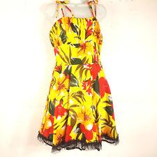 573c4bfcbd78 Voodoo Vixen Womens size M Dress Floral Pinup Retro Vintage Party Lace Lined