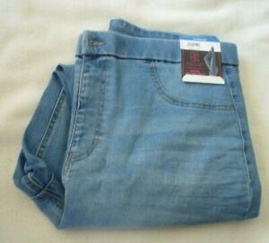 New Juniors size XXXL (21) Blue Jeggings  Super High Rise Back Pockets leggings