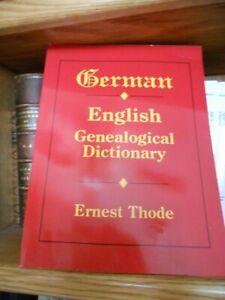 German English Genealogical Dictionary