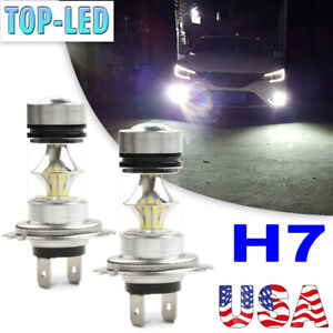 H7 Super White 100W LED Fog Driving Lights Bulbs DRL Lamp Headlight Kit 6000K US