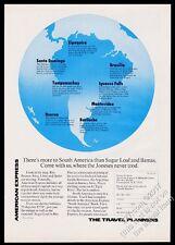 1970 South America globe art American Express vintage print ad