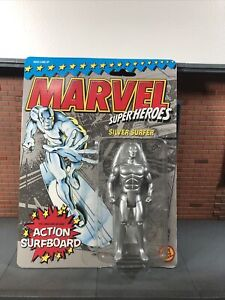 Marvel Super Heroes Silver Surfer Action Figure With Surfboard Toy Biz 1990