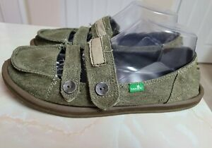 SANUK OLIVE MARY JANE LOAFERS WOMENS SIZE 9